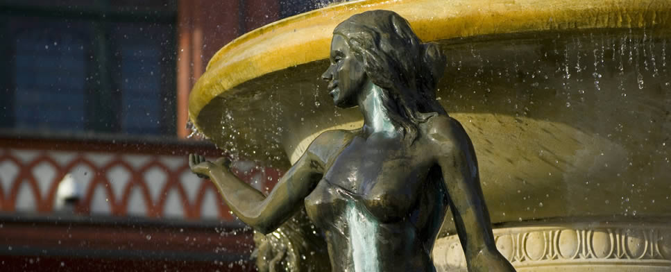 The Virgin at the Fountain in the Old Market Square in Chojnice